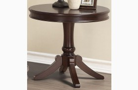 Marston Dark Cherry Round End Table
