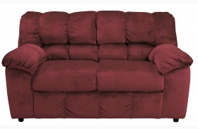 Julson Burgundy Loveseat