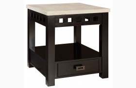 Gateway Off White Table Drawer End
