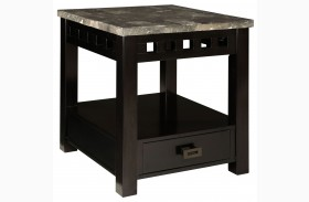 Gateway Grey Drawer End Table