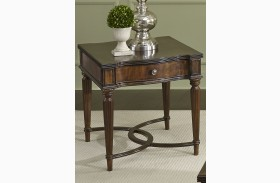 Regent Park Satin Cherry End Table