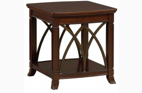 Abbey Henna Cherry End Table