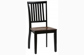 Braden Antique Black Slat Back Chair Set of 2
