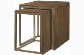 Flashback Rusty Brown Nesting End Table