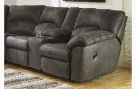 Tambo Pewter RAF Reclining Loveseat
