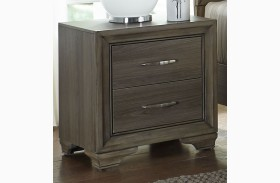 Hartly Gray Wash Nightstand