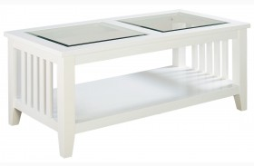 Rio Lite Crisp White Paint Cocktail Table