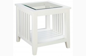 Rio Lite Crisp White Paint End Table