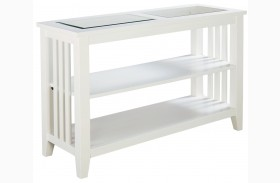 Rio Lite Crisp White Paint Console Table