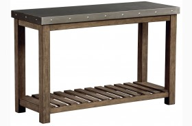 Riverton Dusty Weathered Wood Console Table