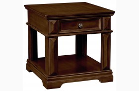 Charleston Rich Tobacco Drawer End Table