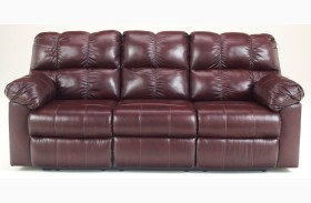 Kennard Burgundy Power Reclining Sofa
