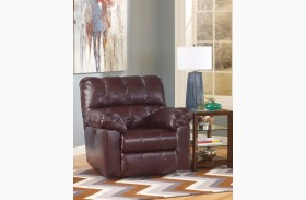 Kennard Burgundy Power Rocker Recliner