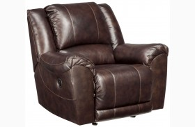 Yancy Walnut Power Rocker Recliner