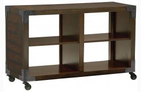 Sullivan Heavily Distressed Dark Golden Brown Console Table