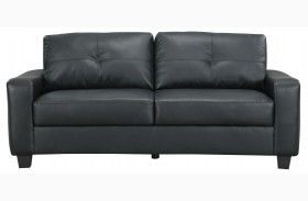 Jasmine Black Loveseat - 502722
