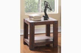 Fairway Royal Classics Distressed Walnut End Table