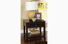 Edgemont Distressed Walnut End Table