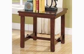 Madera African Chestnut End Table