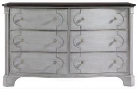 Charleston Regency Gray Linen Island House Dresser