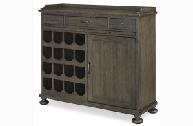 Berkeley3 Brownstone Small Wine Cabinet