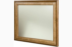 Grove Point Warm Khaki Landscape Mirror