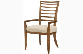 Grove Point Warm Khaki Ladder Back Arm Chair