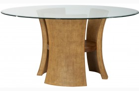 Grove Point Warm Khaki Round Pedestal Dining Table