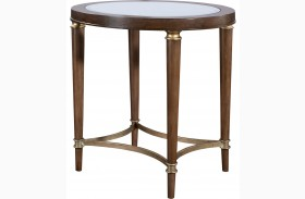 Kirsten Oval Lamp Table