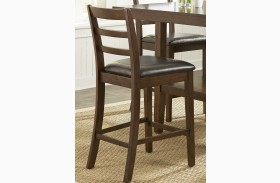 Bradshaw Russet Ladder Back Barstool Set of 2
