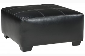 Kumasi Black Oversized Accent Ottoman