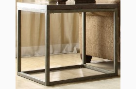 Daria Grey End Table