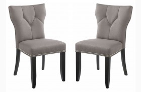 Bernard Linen Dining Chair Set of 2