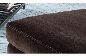 Mulholland Chocolate Ottoman