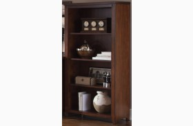 Leyton I Tobacco Open Bookcase