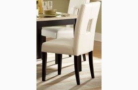 Archstone White Bi-Cast Vinyl Side Chair Set of 2