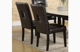 Archstone Black Bi-Cast Vinyl Side Chair Set of 2