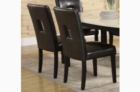Archstone Black Bi-Cast Vinyl Side Chair Set of 2