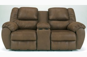 Quarterback Canyon Reclining Loveseat with Console
