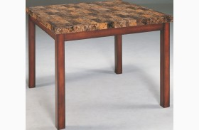 Achillea Faux Marble Counter Height Table