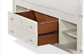 Bellamy Smartstuff Daisy White Storage Unit with Side Rail Panel
