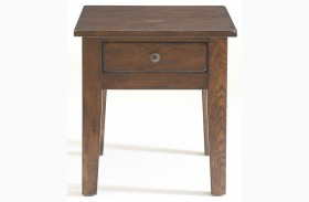 Attic Rustic Oak Stain End Table