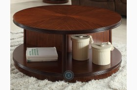Orlin Round Cocktail Table with Casters