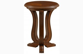 Lana Medium Cherry Round Chairside Table