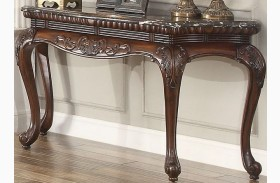 Mariacarla Dark Cherry Marble Top Sofa Table
