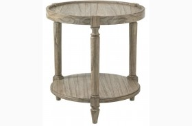Twilight Bay Antique Linen Phoebe Lamp Table