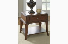 Brighton Park Dark Honey End Table