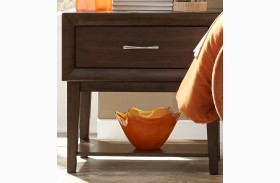 Hudson Square Espresso 1 Drawer Nightstand