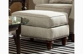 Whitfield Walnut Woven Fabric Ottoman
