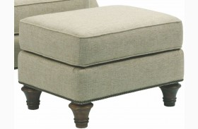 Whitfield Walnut Woven Fabric Ottoman